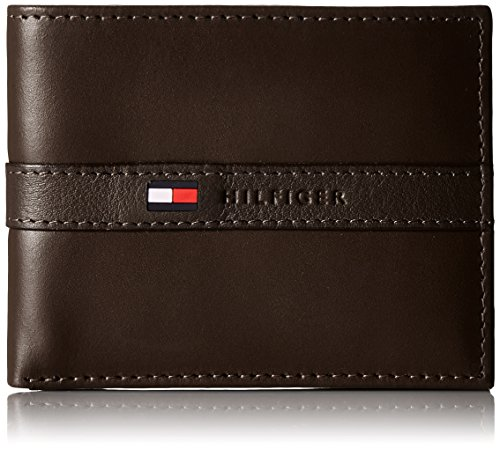 tommy-hilfiger-mens-leather-ranger-passcase-wallet-with-removable-card-case-brown-one-size