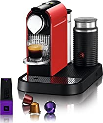 Nespresso C121-US-RE-NE1 Citiz Espresso Maker with Aeroccino Milk Frother, Red made by Nespresso