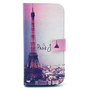 Noarks HTC One M8 Case - Premium Wallet PU Leather Case Flip Cover Case With Credit Card Slot For HTC One M8 2014 Release (Paris City)