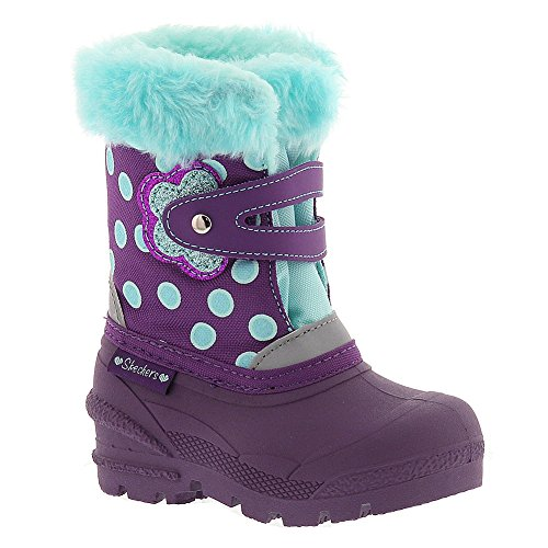 Skechers Infant/Toddler Girls' Lil Frost Snow Stompers,Purple/Teal,Us 5 M