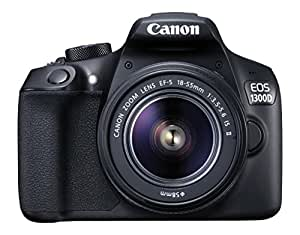 Canon EOS 1300D 18-55 18 MP Digital SLR Camera (Black) with 18-55mm ISII Lens + 16GB Card and Carry Case + Free Motorola Pulse-S505 Wireless Bluetooth Headset with Mic