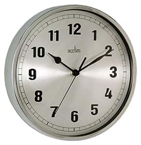 Acctim 27357 Ruben Wall Clock Chrome Kitchen Dining