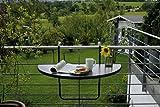 BEST 36501550 Balkon Hängetisch Butler halbrund 100 x 50 cm