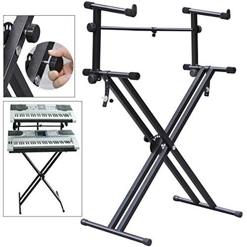 Yaheetech Pro X Style Dual Keyboard Stand Electronic Piano D