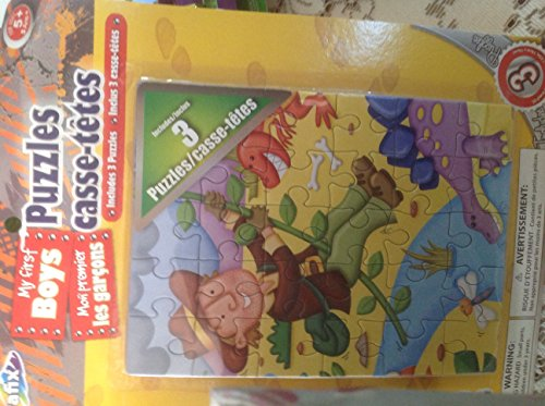 My First Boys Puzzles (3 in 1)