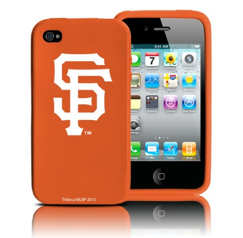 MLB San Francisco Giants Varsity Jacket Silicone Shield for Apple iPhone 4