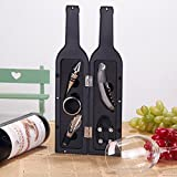 Vina® 5 Pcs/set Deluxe Wine Bottle Opener Accessories Gift Set - Wine Bottle Opener, Wine Stopper, Wine Drip Ring, Wine Foil Cutter and Wine Pourer