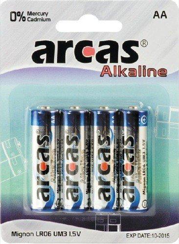 Arcas Pack de 4 piles Alcaline Mignon AA
