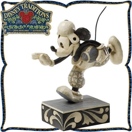 Wood carving tone Figure Mickey Mouse Football Go For The Touch Down Disney