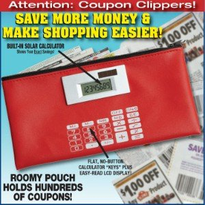 Coupon Pouch Organizer with Calculator