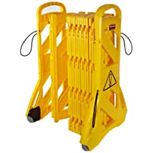 Rubbermaid Commercial FG9S1100 Yellow 40-Inch Mobile Barrier