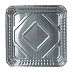 Durable Packaging 1155-35 Disposable Aluminum Square Cake Pan, 8\