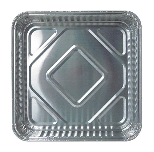 Durable Packaging 1155-35 Disposable Aluminum Square Cake Pan, 8