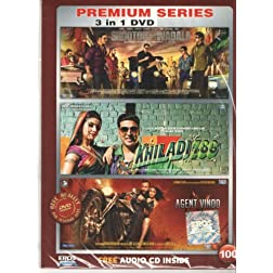 Shootout at Wadala / Khiladi 786 / Agent Vinod  (Hindi Movie / Bollywood Film / Indian Cinema DVD) 3 in 1 Orginal Without Subtittles