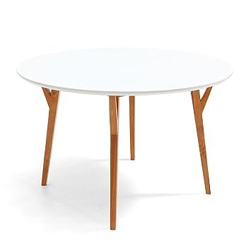 Table de Salle à Manger Ronde Design Scandinave Dewarens Moesa