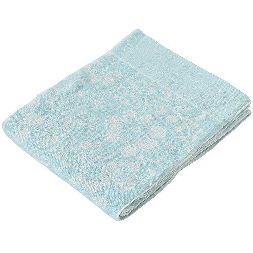 東京西川 タオルケット 綿 パイル 花柄 ブルー RPG0881600
