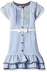 People Girls' Dress (P30602066455119_Blue_2-3 Yrs)