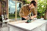 Bosch-DIY-Multischleifer-PSM-200-AES-2-Schleifpapiere-K-80-Rechteckige-Schleifplatte-Koffer-200-W-Schwingzahl-6000-26000-min-1-Schleifflche-rechteckig-164-cm-92-x-182-mm