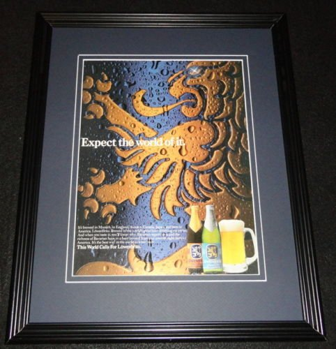 1987-lowenbrau-beer-framed-11x14-original-vintage-advertisement