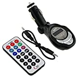 Mp3 Wireless Fm Transmitter with Sd Card and USB Jump Drive Slot Black