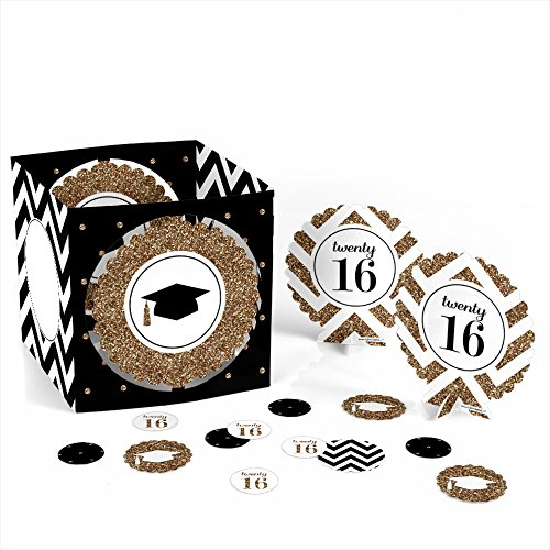Tassel Worth The Hassle - Gold - Graduation Party Table Decorating Kit - 1