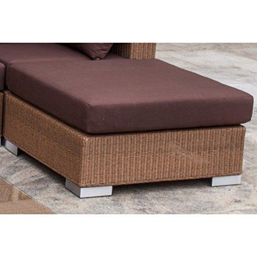 Stern Lounge-Hocker Avola mit Geflecht natur antik und Kissen 100% Polyester Dessin braun günstig