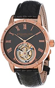 Stuhrling Original Men's 312S.3345X54 Tourbillon Diamond Dominus Limited Edition Mechanical Rose Tone Watch