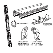 E-Z Roll Sliding Door Track Set - 70-1/2 Track for 6 ft Door Opening