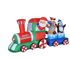 7 foot long christmas inflatable santa claus - Decoration de noel amazon ...