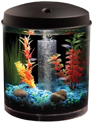AquaView 360 Aquarium Kit with LED Light - 2 Gallon