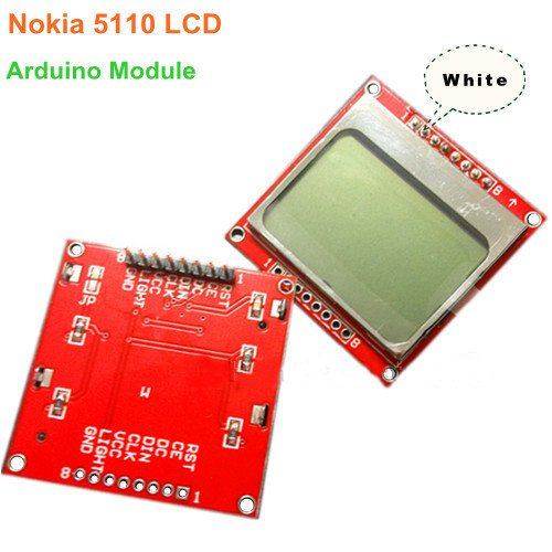 Sunkee 84*48 Lcd Module (White Backlight Adapter Pcb) For Nokia 5110 Arduino