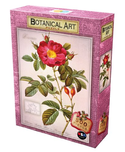 DB & Company Red Rose Botanical Puzzle (500-Piece)