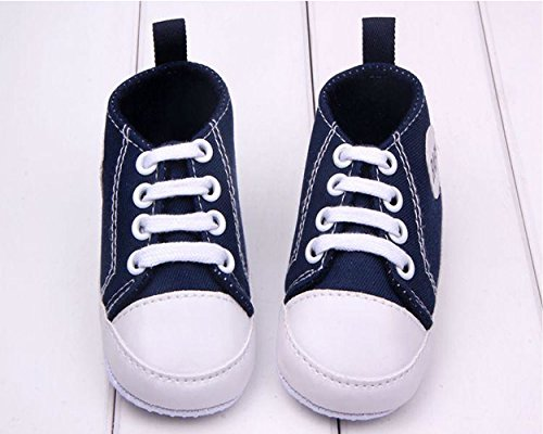 Dealzip Inc® Navy Blue Newborn Baby Boy Girl Soft Crib Sneaker Shoes 0-6 Months