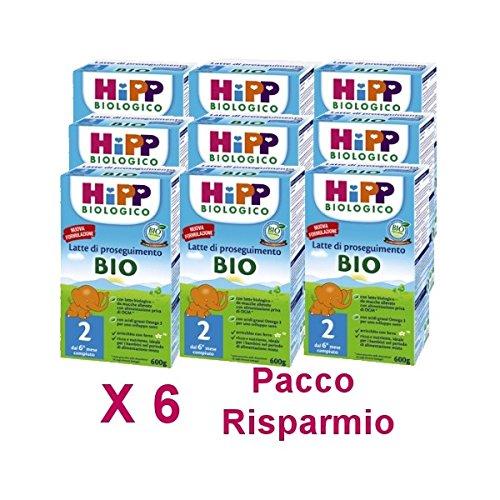 HiPP - latte Hipp 2 da 600 grammi X 6 Confezioni - Pacco Convenienza