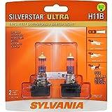 SYLVANIA H11B SilverStar Ultra Halogen Headlight Bulb, (Contains 2 Bulbs)