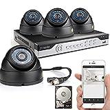 Zmodo 4CH 960H DVR 4x600TVL Home CCTV Video Day Ni...