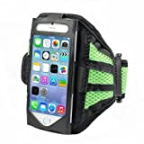 Running Jogging Sports GYM Armband Case Holder For Apple Iphone 4 /Iphone 4s (Mesh Green)