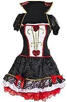 Queen of Hearts Fancy Dress Costume Fairy Tale Ladies 6 8 10 12 14 16