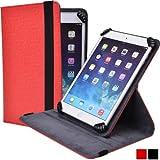Cooper Cases (TM) Infinite S360 Prestigio MultiPad 4 Diamond 10.5 3G / 3G* Folio Case in Red (Universal Fit, 360-Degree Rotating Stand Feature, Synthetic Cover, Elastic Strap Closure)