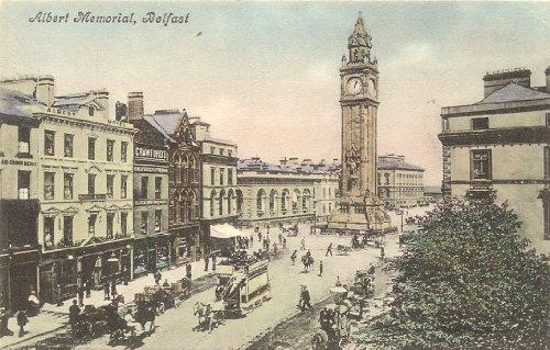 1905 Vintage Postcard Albert Memorial Belfast