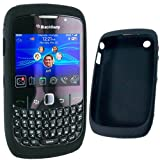 Black Silicone Silicon Case/Skin/Cover for Blackberry 8520 8530 9300 3G Curve