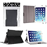 Bear Motion Case for iPad Air 2 - Premium Slim Folio Case Built in Stand for Apple iPad Air 2 (Support Smart Cover Function - guaranteed) - Black