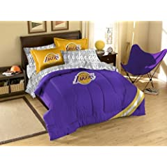 Los Angeles Lakers 7 Pc FULL Size Bed in a Bag (Comforter, 1 Flat Sheet, 1 Fitted... by Northwest