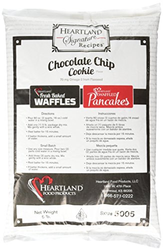 Heartland Food Products Belgian Waffle Mix, Chocolate Chip Cookie, 5 Pound Review