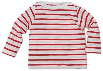 Petit Bateau Pologne - Sweat-Shirt - Mixte Enfant - Multicolore (Lait/Cocorico) - 3 Mois
