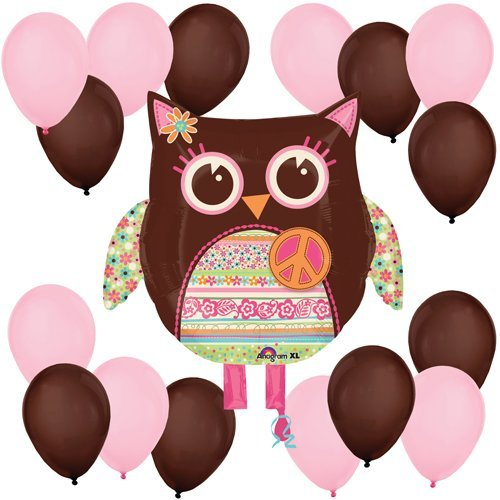 Hippie Chick Owl Balloon Kit - 1