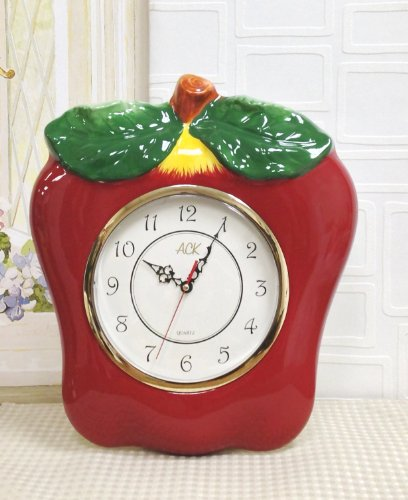 Ceramic Clock Apple RED Clock Apple Lowest