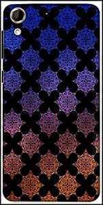 Snoogg Motif Black Shaded 2418 Designer Protective Back Case Cover For HTC Desire 728