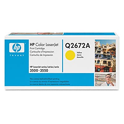 Hewlett-Packard - Q2672A Toner Cartridge, Yellow - Pack of 2