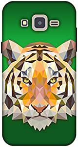 The Racoon Grip printed designer hard back mobile phone case cover for Samsung Galaxy J2. (greentiger)